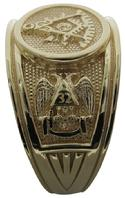 Past Master Masonic ring with double eagle 32nd