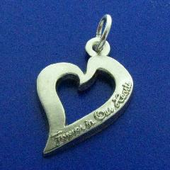 FOREVER IN OUR HEART LOGO IN FINE JEWELRY PENDANT