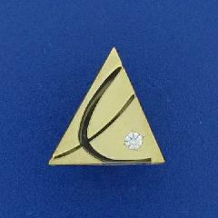 LUSHIN LOGO IN FINE JEWELRY PIN