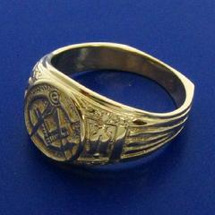 10k yellow gold gents Masonic ring