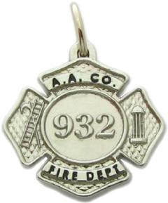 Police and fire fine jewelry 3d badge pendants custom sterling silver or white gold maltese cross fire badge pendant mozeypictures Choice Image