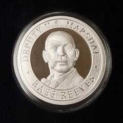 Deputy US Marshal Bass Reeves 1 oz. silver proof coin, limited edition, serial numbered.