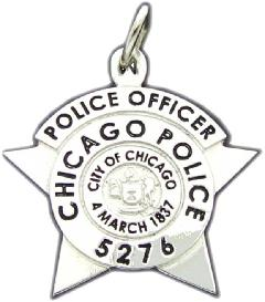 Custom police and fire fine jewelry 3d badge pendants sterling silver or white gold custom chicago police officer mini badge pendant mozeypictures Choice Image