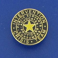 Dallas Crisis Intervention Team logo pin