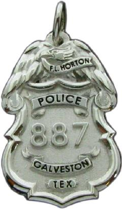 Custom police and fire fine jewelry 3d badge pendants custom 3d sculpted sterling silver or 14k white gold galveston police officer mini badge pendant aloadofball Gallery