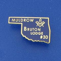 Bruton Masonic Lodge AF&AM visitor pin