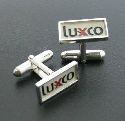 LUXCO LOGO IN FINE JEWELRY CUFF LINKS