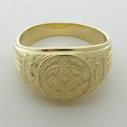 10k yellow gold gents Mason Third Degree ring