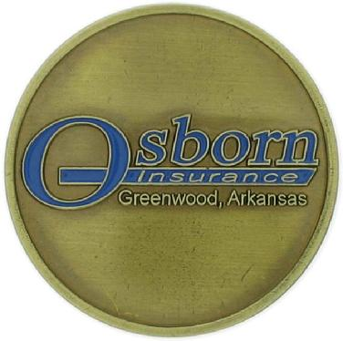 100th anniversary commemorative coin struck for the Osborne Insurance Agency