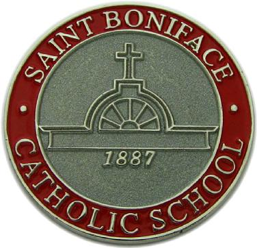 Commemorative coin for Saint Boniface Catholic School golf tournament