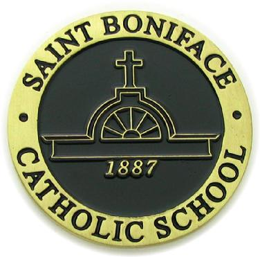 Commemorative coin for Saint Boniface Catholic School
