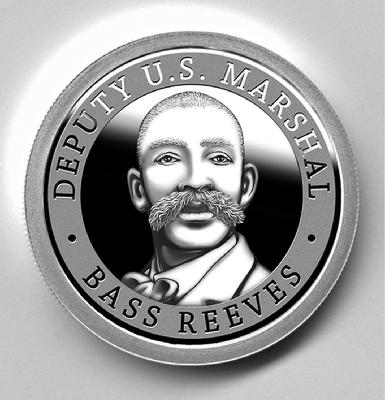 Deputy U.S. Marshal Bass Reeves silver proof coin, obverse