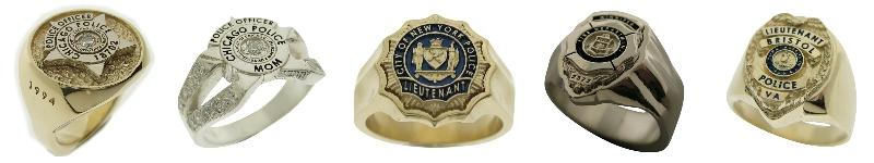 Custom Police & Fire badge rings