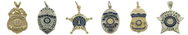 Custom police badge pendants