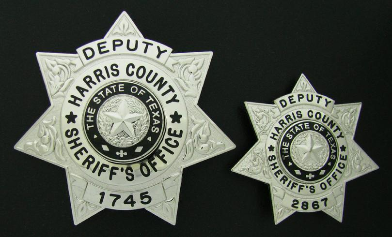 Harris County Sheriff's Office badges in full size and wallet size versions
